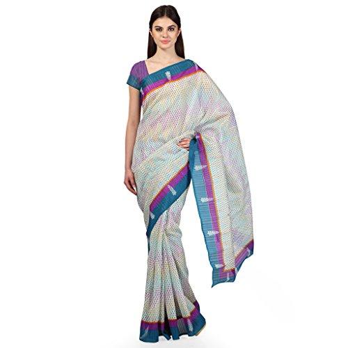 Janasya women's multi-colour Bhagalpuri Silk Printed Saree (JNE0514)  available at amazon for Rs.299