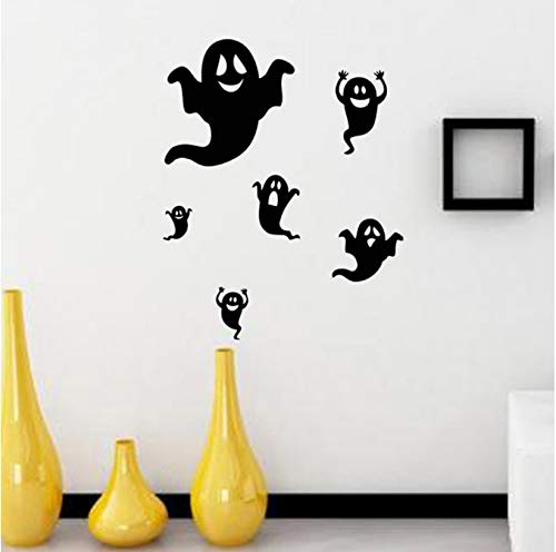 wlflyh Halloween Ghost Idea Hintergrund Wanddekoration Entfernbare Wandaufkleber PVC DIY (Für Halloween-malerei-ideen Kinder)