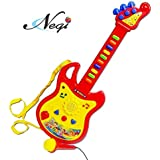 Negi Guitar Musical Toy With Microphone (Color May Vary) (Guitar Music)