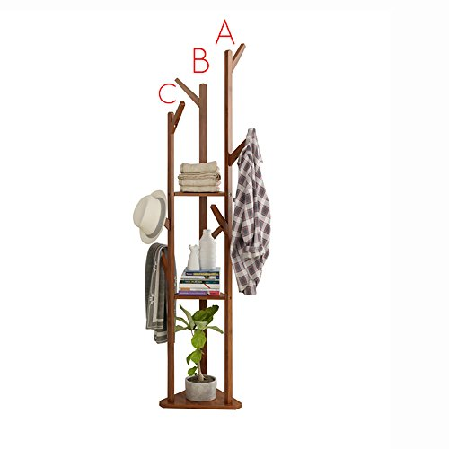 garderobe mit schirmstaender QFFL Garderobe-Boden-Ecke kleidet einfaches Schlafzimmer-Regal-Haushalts-stehende hängende Kleidung 38 * 170cm Kleiderhaken (Farbe : A)