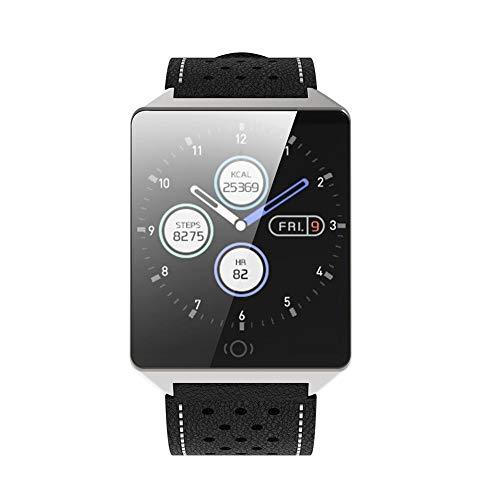 Oshide Smart Armband, CK19 Borderless Ganzmetall 1,3 Zoll Touch Screen 15 Tage Stand By Days Wasserdicht Blutdruck Blutsauerstoff-Erkennung CK19 Sport Armband Kompatibel Android (Vibrations-sensor-armband)
