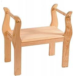 Banqueta de madera de pino sin tratar estilo rústico