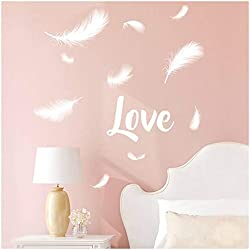 Les Trésors De Lily [P2751 - Planche de Stickers 'Love' (Plumes) - 50x70 cm