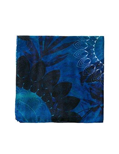 Desigual Damen Schal Foulard_Neko Rectangle, Blau (Navy 5000), One Size (Herstellergröße: U)