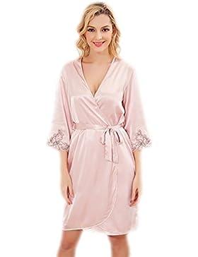 CHUNHUA L'abito quinta manica nuova di seta camicia da notte a due pezzi cablaggio tuta (colore facoltativo) ,...