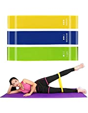 Humble Set of 3 Latex Theraband – Resistance Loop Exercise Bands for Yoga, Stretching, Pilates Home Gym, Physiotherapy Fitness Exercise Workout Training(Multicolor)