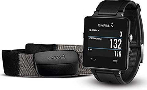 Garmin vivoactive Sport GPS-Smartwatch - inkl. Herzfrequenz-Brustgurt, 3 Wochen Batterielaufzeit