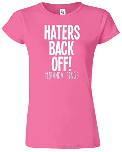 Haters Back Off Mirnada Sings Dames T Top T-Shirt Cadeau Azalea / Blanc Design