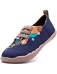 UIN Sigue a tu Corazón Zapatos de Lona Pintados Varios Colores para los Hombres (44)