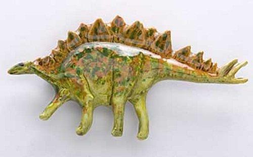 HANDBEMALT ~ Stegosaurus ~ Premiumkollektion S (Anstecknadel/Brosche ~ pp012
