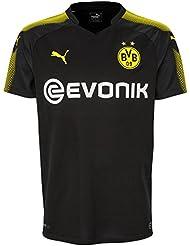 Puma Herren Bvb Away Replica Shirt with Sponsor Logo T-Shirt