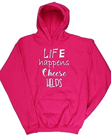 HippoWarehouse - Sweat-shirt à capuche - Fille - rose - 11 ans