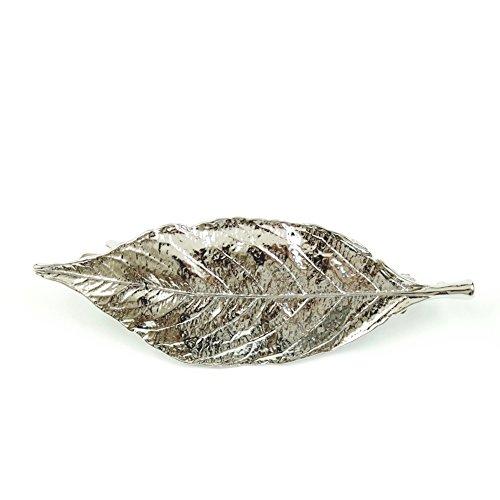rougecaramel - Accessoires cheveux - Barrette métal forme feuille - argenté