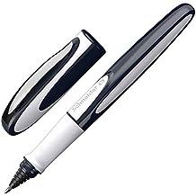 Schneider Ray Tintenroller (Nachfüllbar mit Standard Tintenpatronen, geeignet für Rechts- und Linkshänder) 1 Stück tiefblau/hellgrau