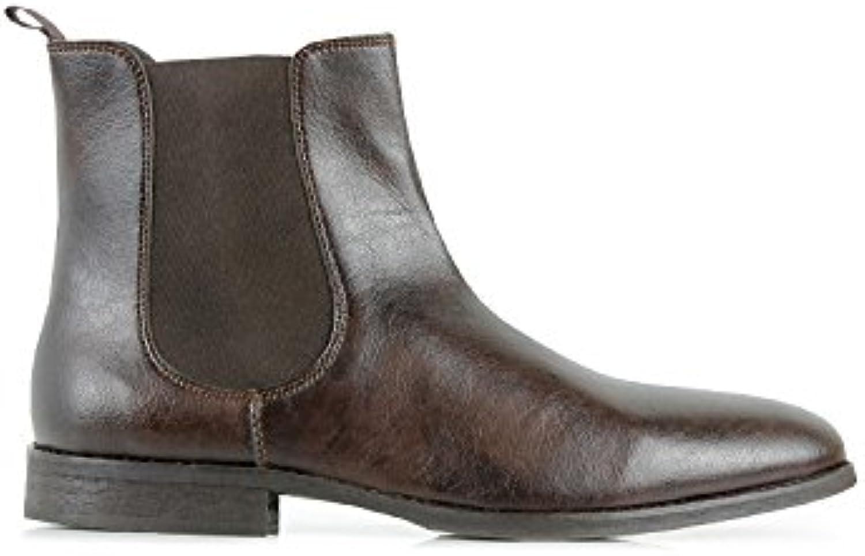Will's Vegan Shoes Chelsea Boots Dark Brown
