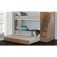 Sleepland Beds Cameo Deluxe staircase bunk with Guest Bed (Oak)