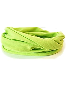 Kleinkinder und Baby - Loop zweifach gewickelt, uni apfelgrün, Kids Schlauchschal, Schal Tuch für Mädchen und...