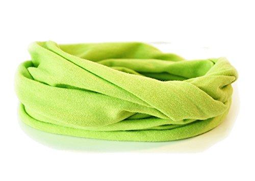 Andrea Traub - FASHION Kleinkinder und Baby - Loop zweifach gewickelt, uni apfelgrün, Kids Schlauchschal, Schal Tuch für Mädchen und Jungen