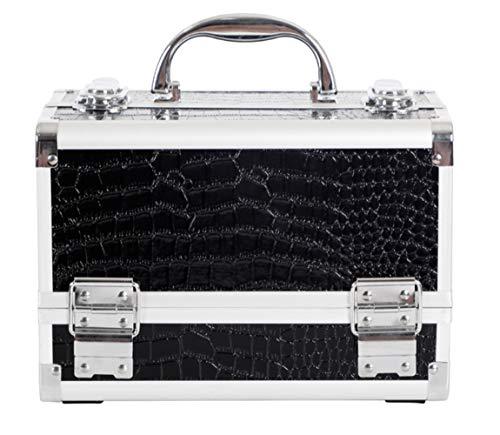 Professionelle KosmetikCase Handle Spiegel Zwei-Layer Aluminum Case Storage Nagelbox Tattoo-Tattoo...