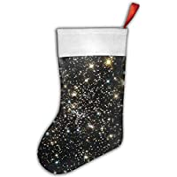 False warm warm Christmas Outer Space Personalized Christmas Hanging Stockings Bag Socks Christmas Tree Decoration Custom Gifts (Christmas Tree Decoration)