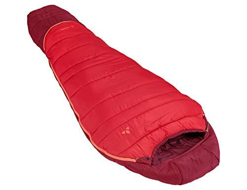VAUDE Kinder Kobel Adjust 500 SYN, längenverstellbarer Kinderschlafsack, für Größen von 130-165cm Schlafsack, Dark Indian red, one Size