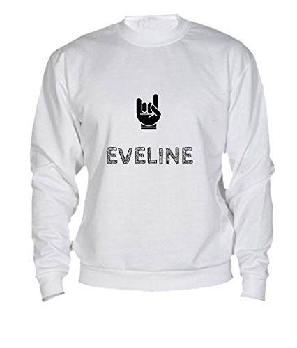 Felpa Eveline - Print Your Name White