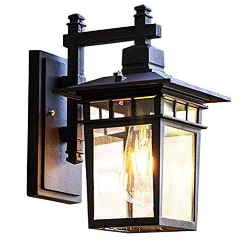 LUXUEY Vintage Außen-Wandleuchte Aluminium Rustikal Wandlampe Aussen mit Glas Lampenschirm Antik Aussenleuchten E27 Licht Wasserdichte Patio Foyer Balkon Beleuchtung,Ø28.5 - 5 Licht Rustikale Kronleuchter