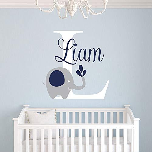ßer Buchstabe L Wandtattoo, niedlichen Elefanten Wohnzimmer Wand Baby Schlafzimmer verschönern Dekoration Aufkleber Vinyl abnehmbare personalisierte Wandbild ()