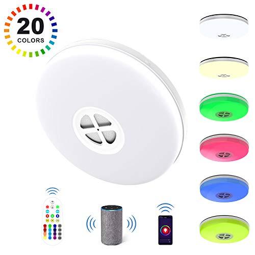 RGB LED Panel Smart Home Decken Lampe Google Alexa App CCT Wifi Leuchte dimmbar