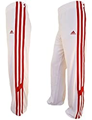 adidas ClimaLite TRKY Snap Pantalon Hommes Pantalon De Sport D'entraînement Short De Basket Firebird blanc / rouge