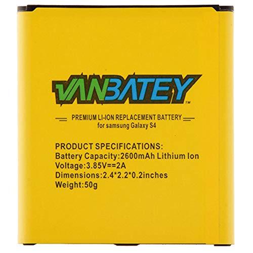 Vanbatey Batería pare Galaxy S4 EB-B600BE 2600mAh Recambio batería Rendimiento Original con i9500 i9505 i9515