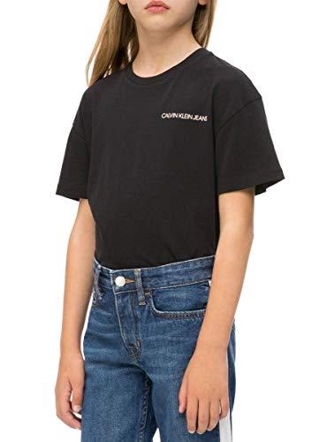 Calvin klein t-shirt chest black per bambina 14 nero