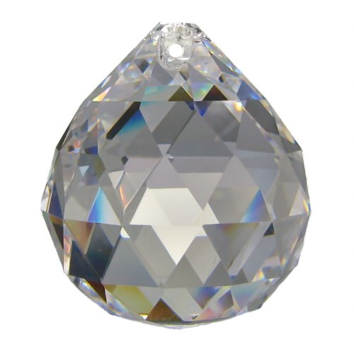 Boule de cristal 60mm (K9) pour luminaires, feng-shui, faiseur d'arcs-en-ciel, etc...