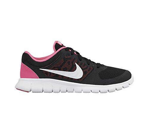 Nike Flex 2015 Rn (Gs), Baskets Basses Mixte Enfant, 6 M US Black/Pink Pow/White