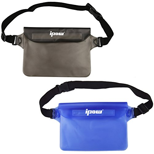 2-pack-ipow-waterproof-pouch-bag-case-waist-strap-for-beach-swim-boating-kayaking-hiking-etc-protect