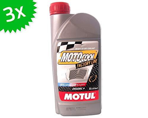 MOTUL-SET 3 X 1 Litri refrigerante Motocool Factory Line (Rosso) 3 Litri Scooter Moto