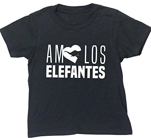 HippoWarehouse AMO LOS ELEFANTES camiseta manga corta niños niñas unisex