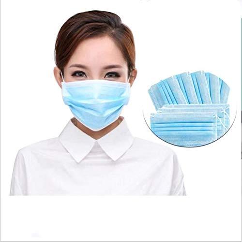 Mascarillas con enganches para la Oreja,  10 Unidades,  con protección antivirus y anticontaminación for el Bloqueo Protection Pack contaminación del Polvo del Aire de 50%