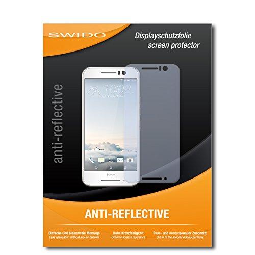 SWIDO Bildschirmschutzfolie für HTC One S9 [3 Stück] Anti-Reflex MATT Entspiegelnd, Extrem Kratzfest, Schutz vor Kratzer/Bildschirmschutz, Schutzfolie, Panzerfolie