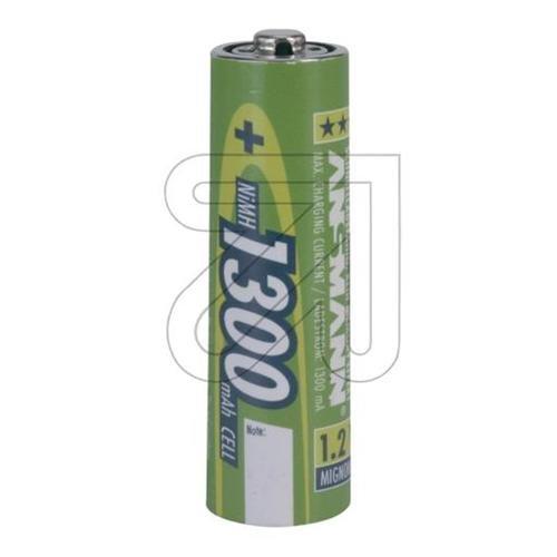 Galleria fotografica Ansmann Accu, AA, 1300 mAh Nickel-Metal Hydride (NiMH) 1300mAh 1.2V rechargeable battery - rechargeable batteries (AA, 1300 mAh, 1300 mAh, Nickel-Metal Hydride (NiMH), 1.2 V, Silver)