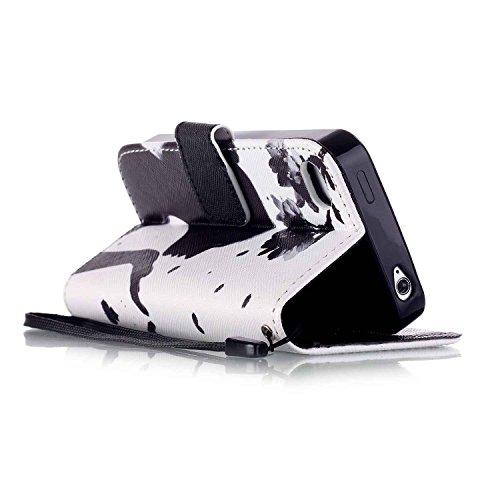 Owbb Filp Housse Coque Étui en PU cuir protection pour iPhone 4 / 4S / 4G Smartphone-Chien Color 03