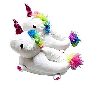 Zapatillas Garra Unicornio Niña Felpa