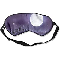 Eye Mask Eyeshade Castle Moon Night Sleeping Mask Blindfold Eyepatch Adjustable Head Strap preisvergleich bei billige-tabletten.eu