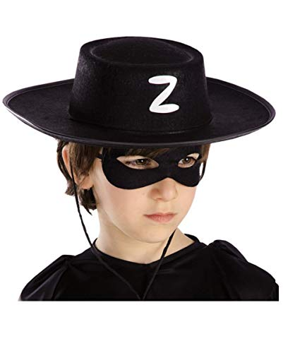 Zorro Maske Des Kostüm - Schwarzer Zorro Kinderhut als Kostümzubehör