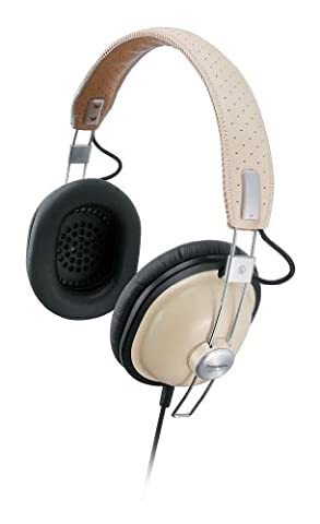 Panasonic RP-HTX7AE-C Lightweight Retro Style Monitor Headphones with Single Side Cord and One Side Monitoring (Panasonic Monitor Style Cuffie)