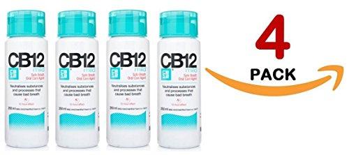 CB12 250ML 4 PACK MILD MINT Safe Breath Oral Care Agent by cb12 (Mild Mint Spray)