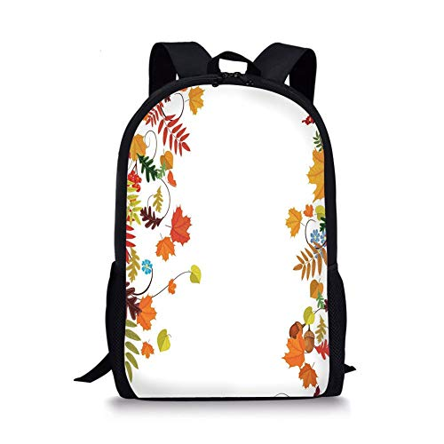 School Bags Halloween,Cartoon Girl with Sugar Skull Makeup Retro Seasonal Artwork Swirled Trees Boo Decorative,Multicolor for Boys&Girls Mens Sport Daypack (Cat-girl Make-up Halloween)