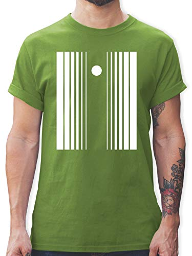 Karneval & Fasching - Doppler-Effekt - M - Hellgrün - L190 - Herren T-Shirt ()