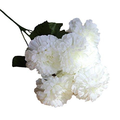 ZahuihuiM Wohnaccessoires & Dekoration Künstliche Gefälschte Blumen Blau Lila Rosa Weiß 1 Bouquet 7 Köpfe Seide Daisy Lotus Balkon Wand Esstisch Decor Für Hochzeit Haus Garten Weihnachten (37*18*1cm, D) -