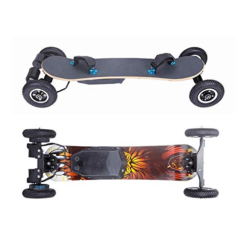 SUN EAGLE Elektrisches Skateboard Mit Fernbedienung Leistung 1200WDoppelantrieb Hohe Leistung Big Tireelectric Longboard Kinder Dürfen Nicht Benutzen (20 Roulette-rad)